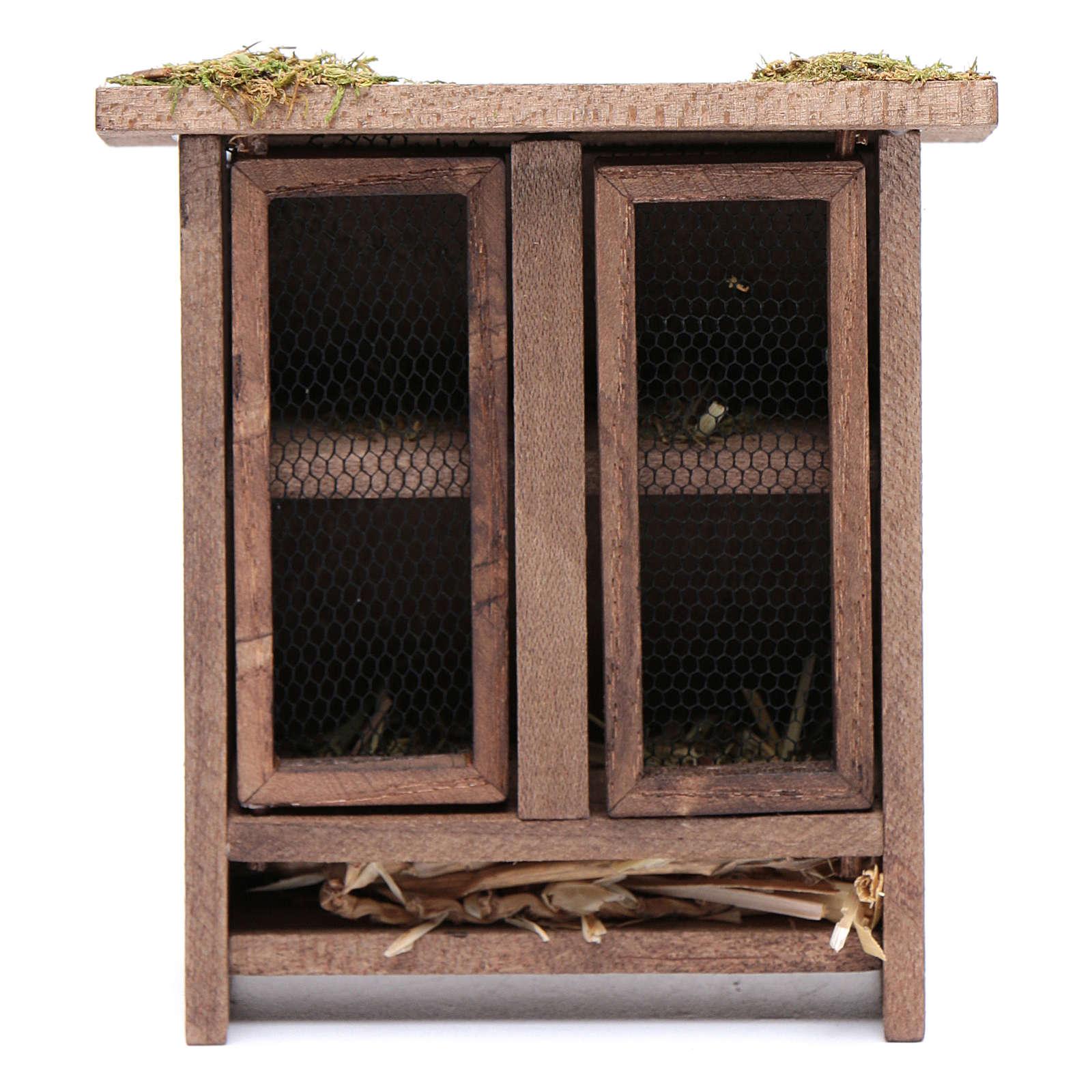 Rabbit hutch for nativity scene 3
