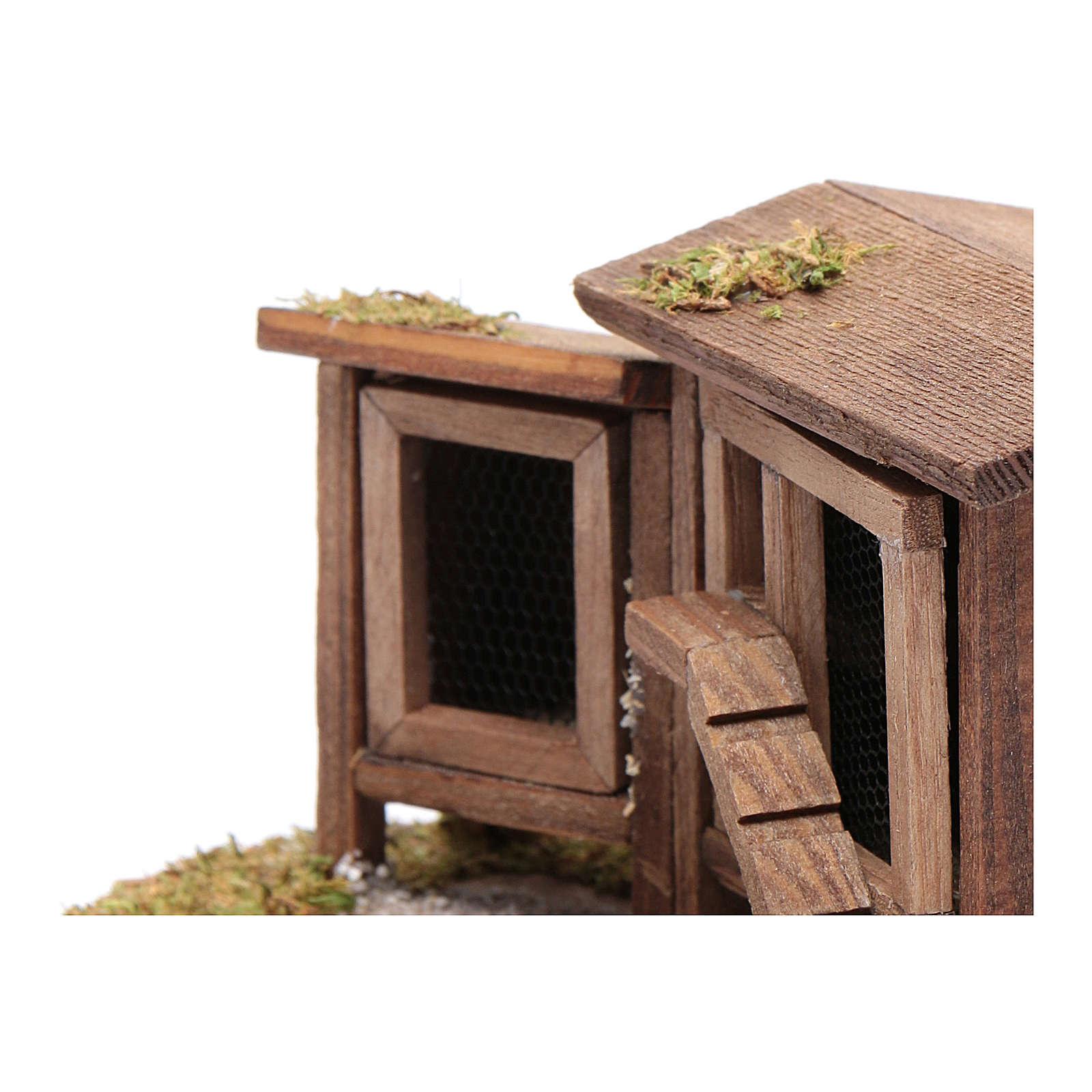 Abri pour poules et lapins 7x13,8x10 cm 3