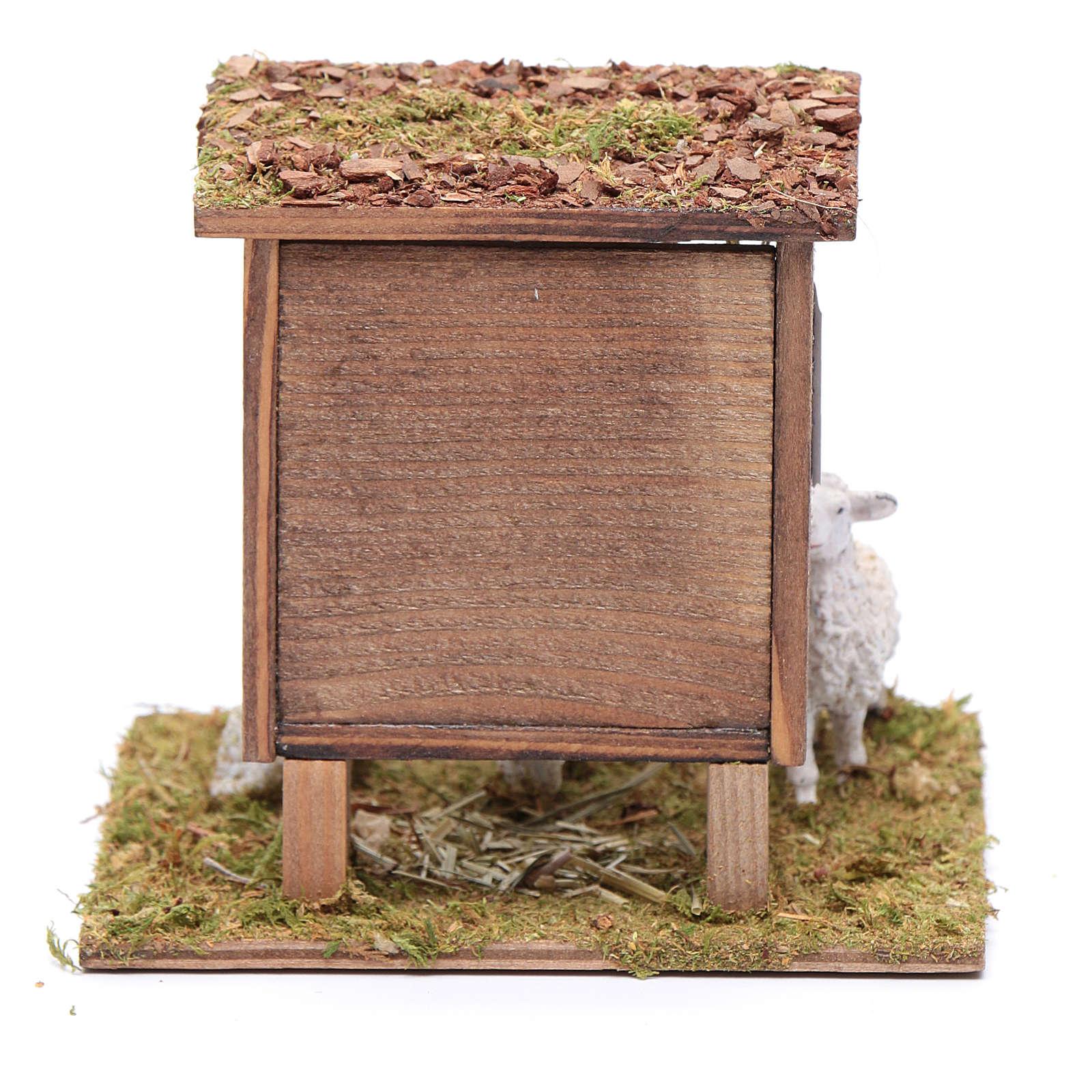 Mangiatoia con pecorelle 10x10x10 cm 3