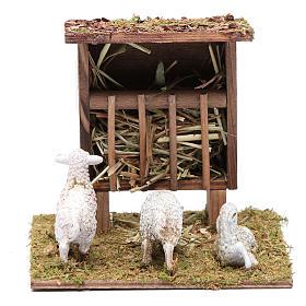 Mangiatoia con pecorelle 10x10x10 cm s1