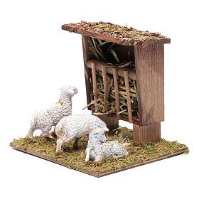 Mangiatoia con pecorelle 10x10x10 cm s2