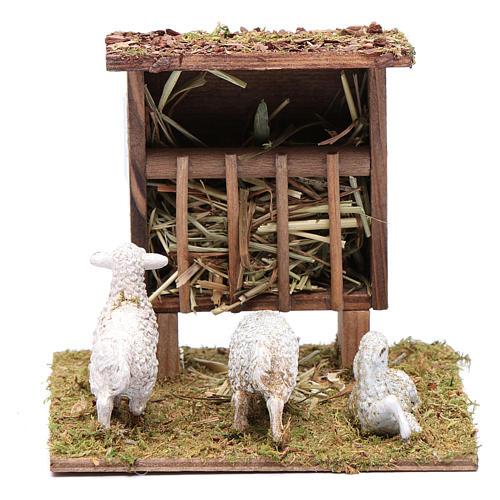 Mangiatoia con pecorelle 10x10x10 cm 1