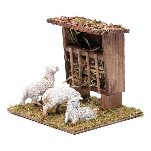 Mangiatoia con pecorelle 10x10x10 cm 2