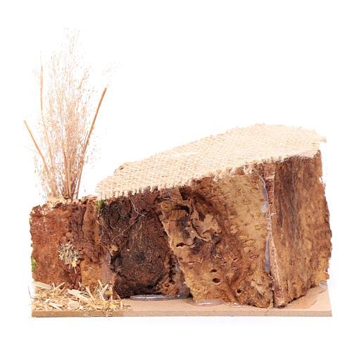 Décor moutons toit jute 7x15x10 cm 4