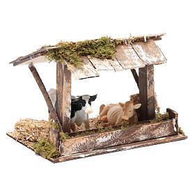 Ambientazione mucche in stalla con tetto 15x20x15 cm s3