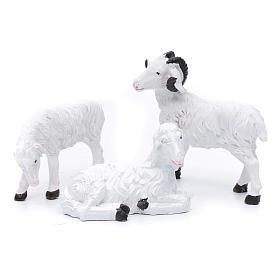 Krippentiere: Schafe aus Kunstharz Set zu 3 Stück für 13 cm Krippe