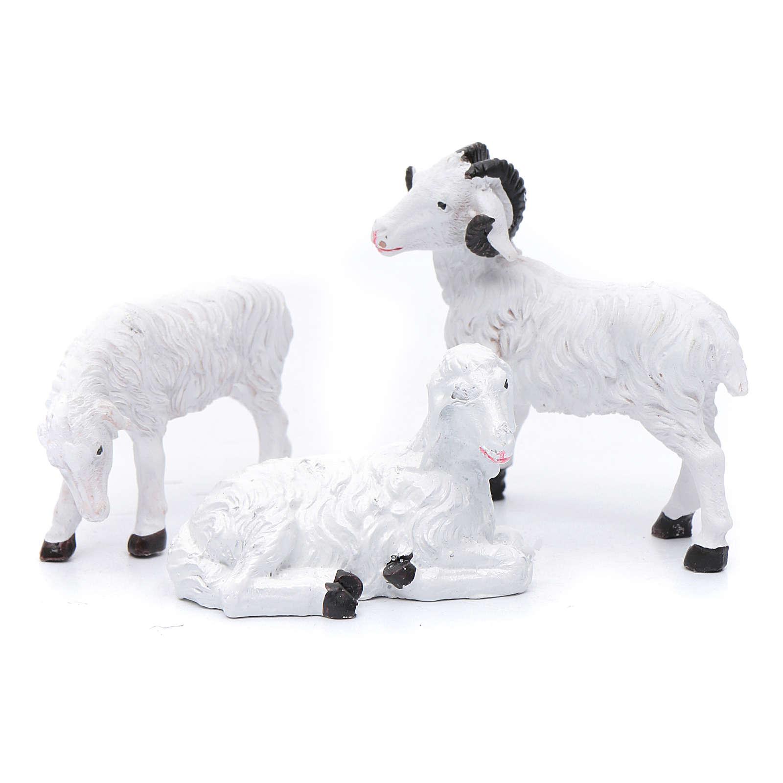 Moutons résine pour berger de 13 cm set 3 pcs 3