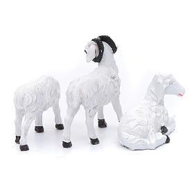 Moutons résine pour berger de 13 cm set 3 pcs s2