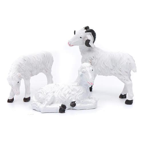 Moutons résine pour berger de 13 cm set 3 pcs 1