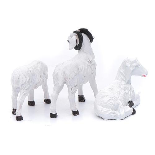 Moutons résine pour berger de 13 cm set 3 pcs 2