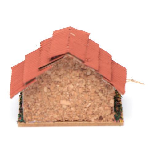 Conigliera con conigli presepe 5x5x5 cm 4