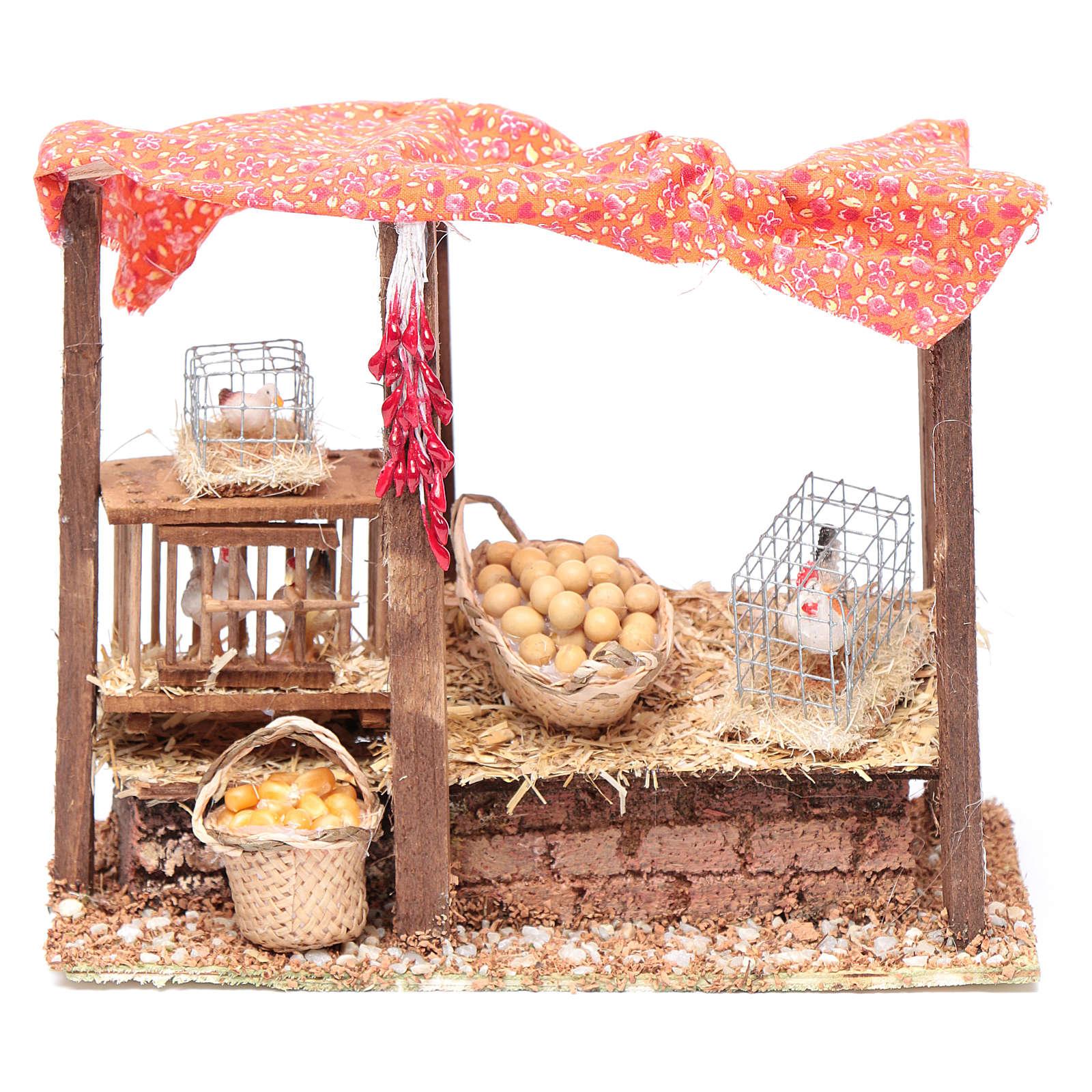 Pollaio per galline presepe 15x20x10 cm 3