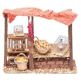 Pollaio per galline presepe 15x20x10 cm s1