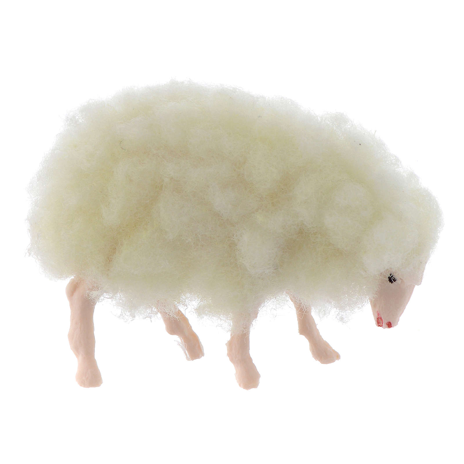 Cordero lana miniatura 3 cm pesebre 3