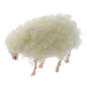 Agnello lana presepe h reale 3 cm s2