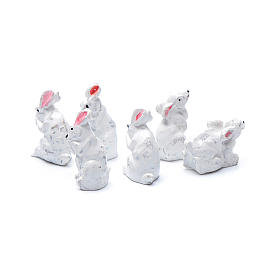 Rabbits in resin measuring 2 cm, 6 figurines s2