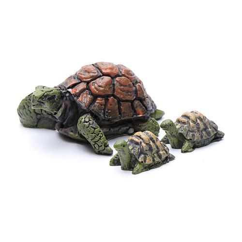 Żółwie do szopki żywica 3 szt. wys. rzeczywista 2-4 cm 1