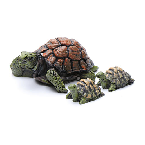 Nativity figurines, turtles in resin measuring 2-4 cm, 3 pieces 1