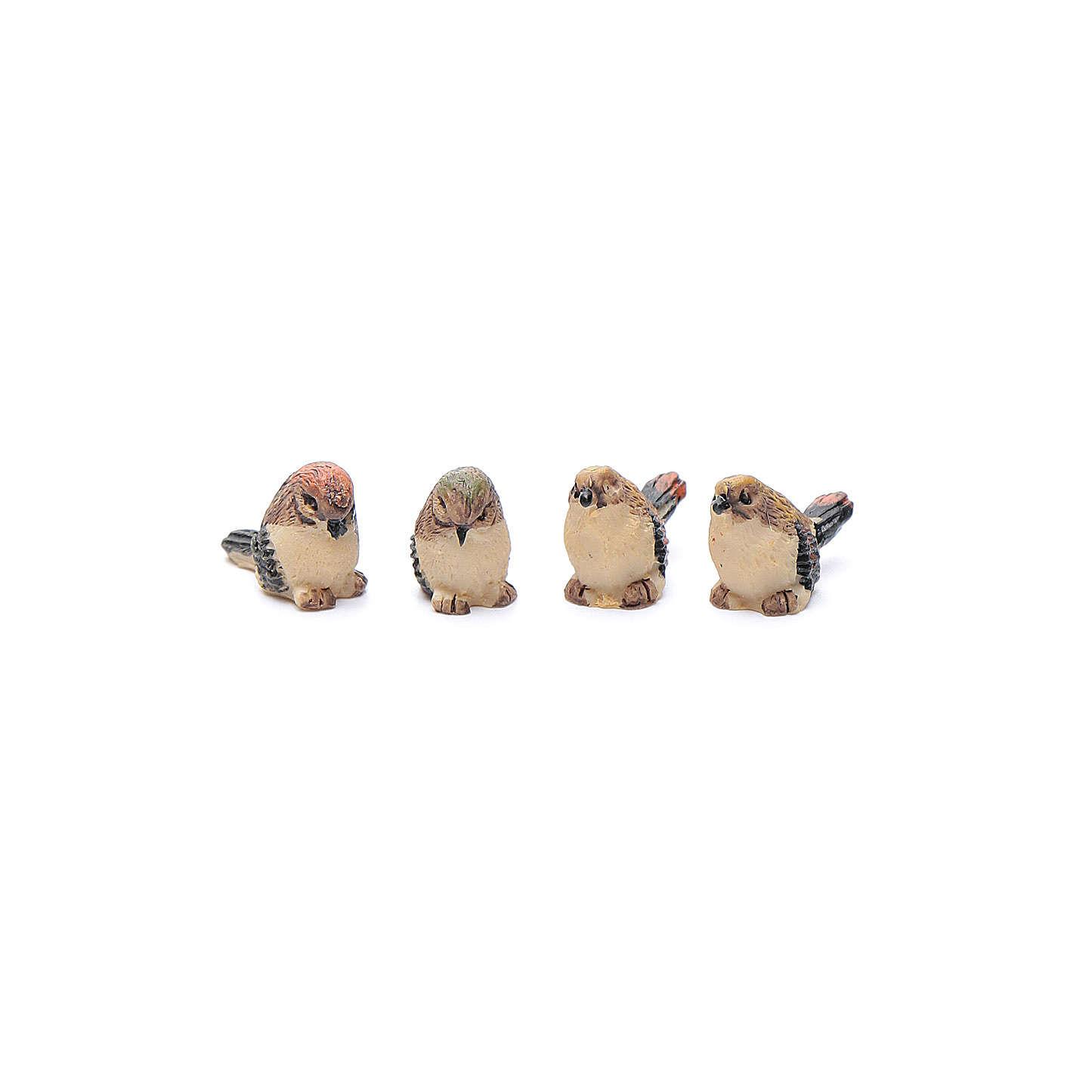 Nativity figurines, birds in resin measuring 2 cm, 4 pieces 3