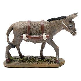 Animais para Présepio: Burro em resina para presépio Linha Martino Landi com figuras de altura média 12 cm