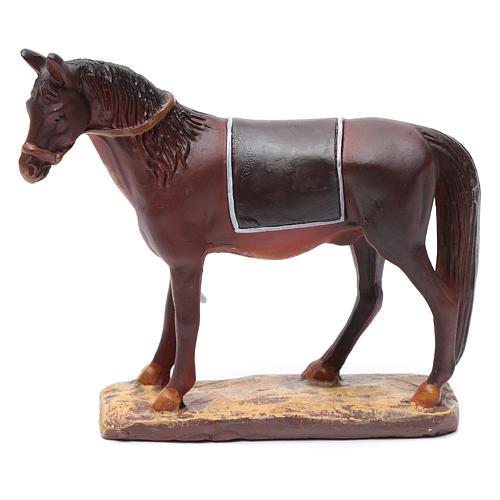 Cavallo in resina per presepe 12 cm Linea Martino Landi 1