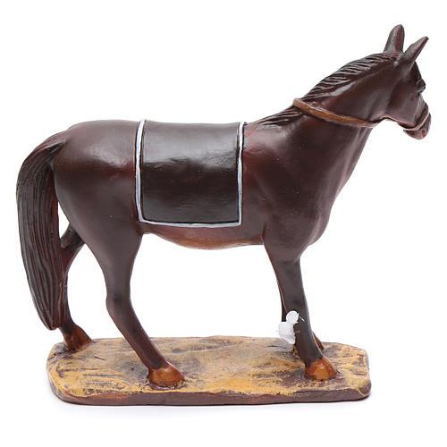 Cavallo in resina per presepe 12 cm Linea Martino Landi 2