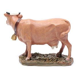 Mucca in resina dipinta per presepe 12 cm Linea Martino Landi s2