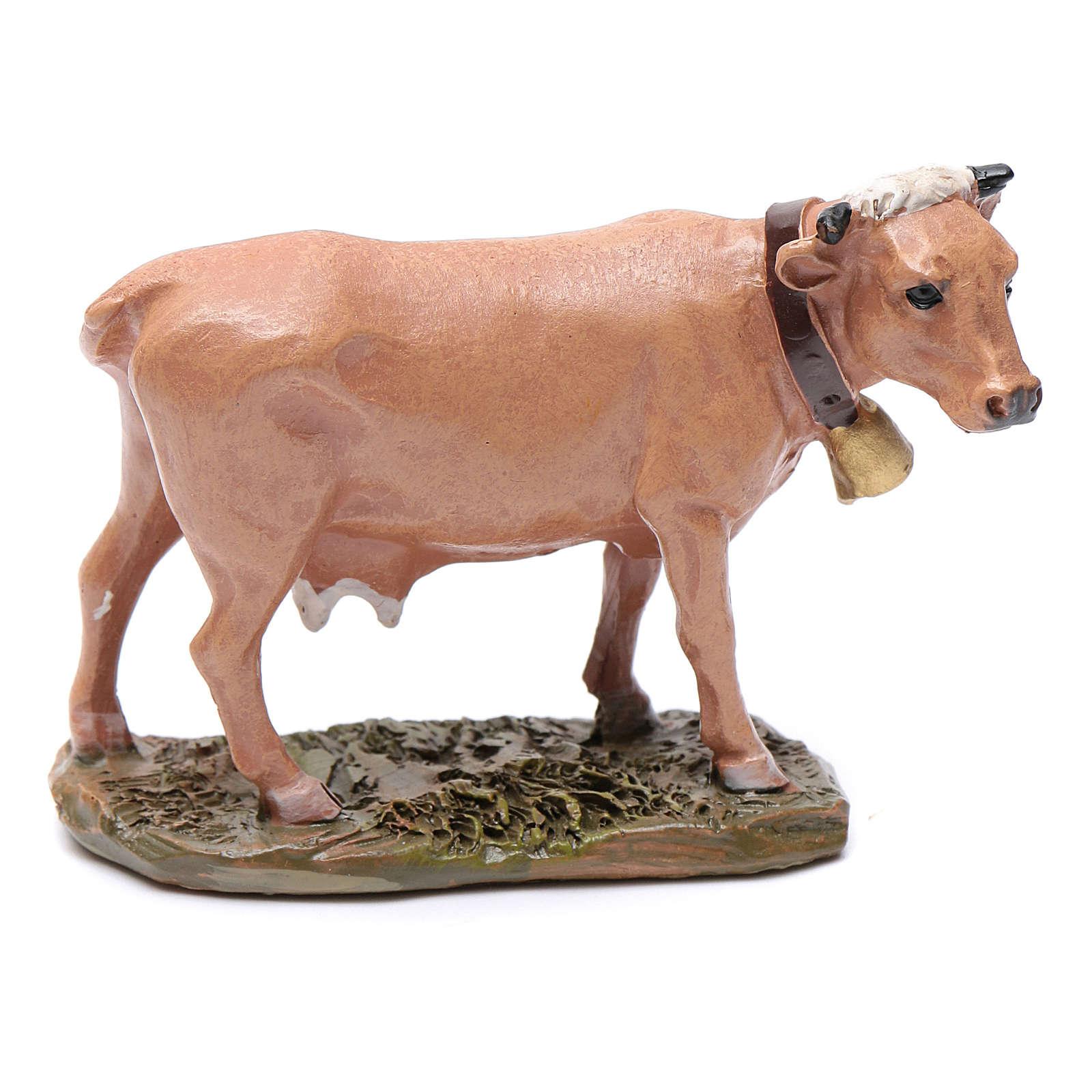 Mucca in resina per presepe 10 cm Linea Martino Landi 3