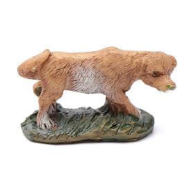 Cão em resina para presépio 10 cm s1