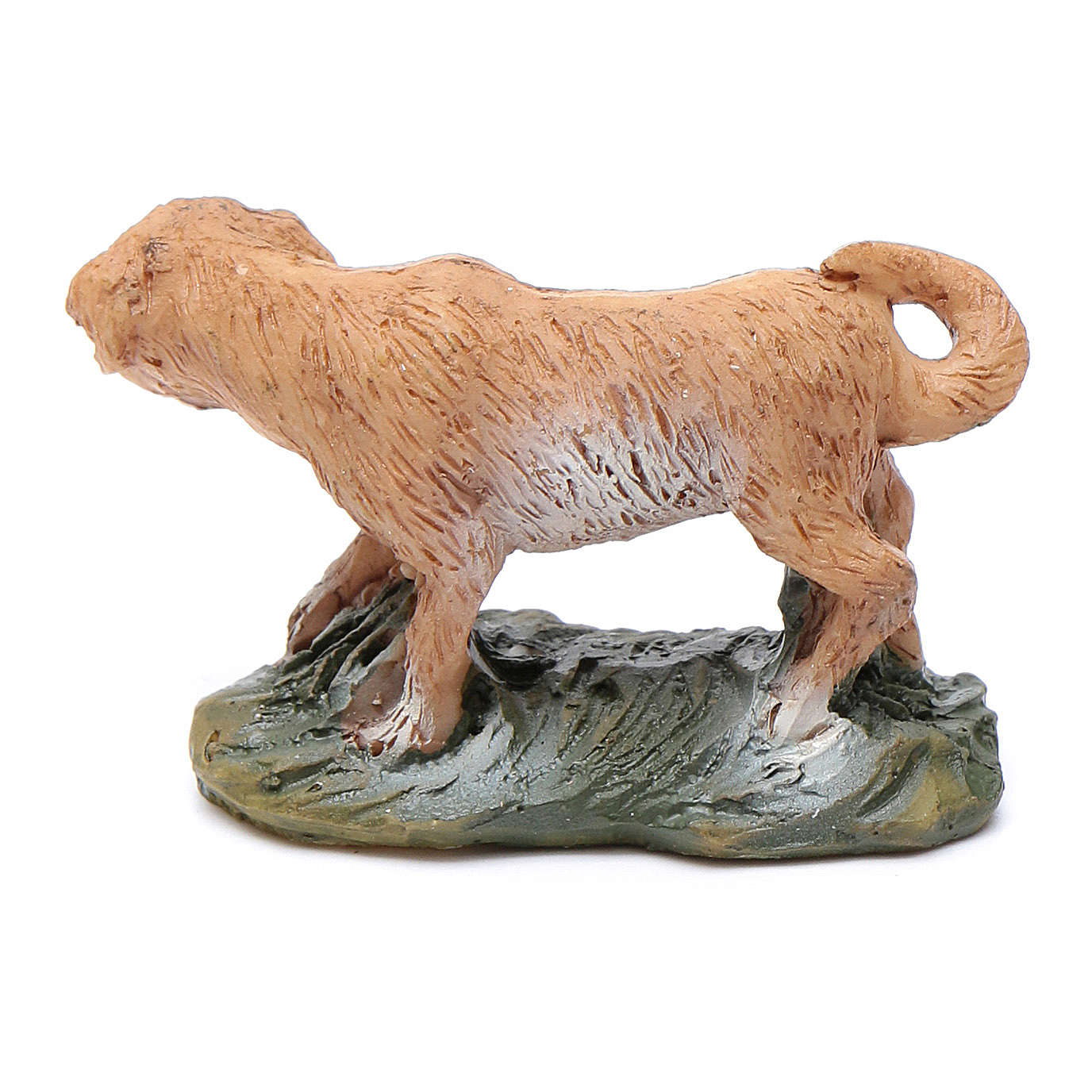 Dog on grass for 10 cm nativity 3