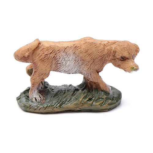 Dog on grass for 10 cm nativity 1