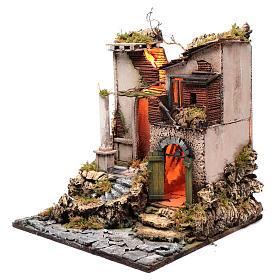 Ambientazione tempio rudere 45x40x50 cm presepe Napoli s2