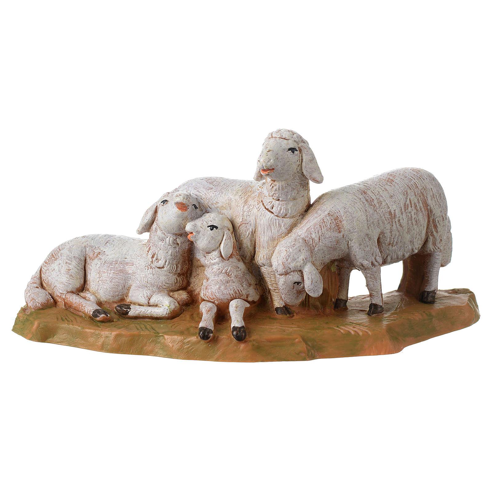 Gregge di pecore 12 cm Fontanini 3