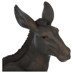 Resin sitting donkey for 60 cm Nativity Scene s2