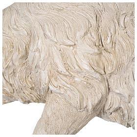 Pecora testa bassa resina presepe 80-100 cm s5