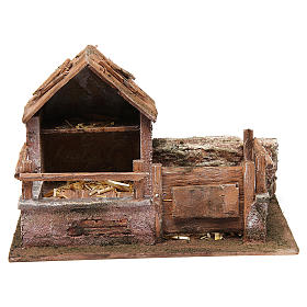 Pen with trough for 12 cm nativity scene s1