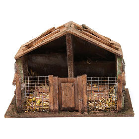 Coop with net and trough for 12 cm nativity scene s1