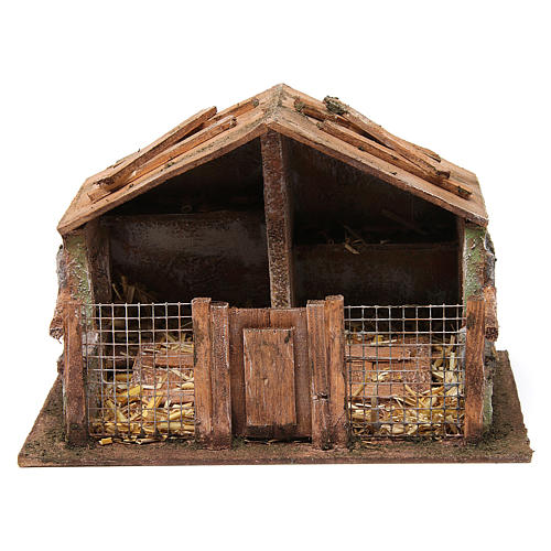 Coop with net and trough for 12 cm nativity scene 1