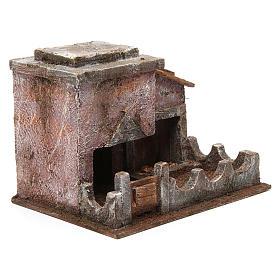 Animal shelter with manger for 10 cm nativity scene s3