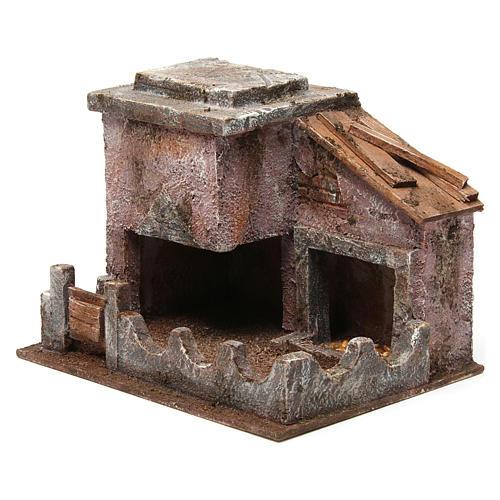 Animal shelter with manger for 10 cm nativity scene 2