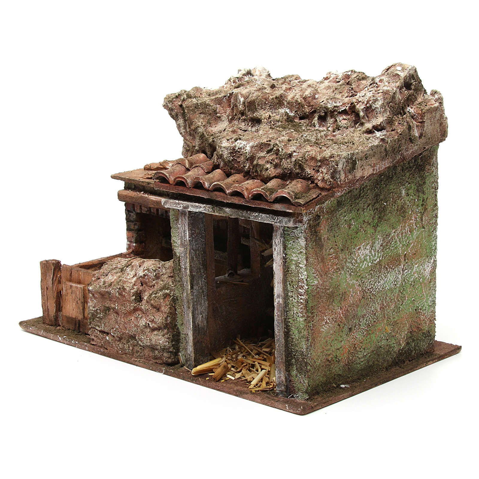 Double animal shelter for 10 cm nativity scene 3