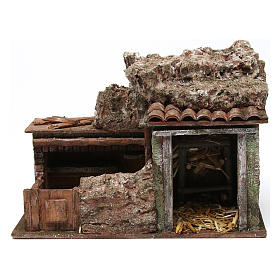 Double animal shelter for 10 cm nativity scene s1