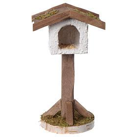 Birdhouse in wood and plaster for 10-12 cm nativity scene s1