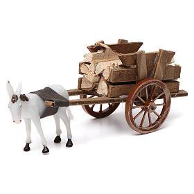 Donkey pulling a cart full of wood for Nativity Scene 10x20x10 s1