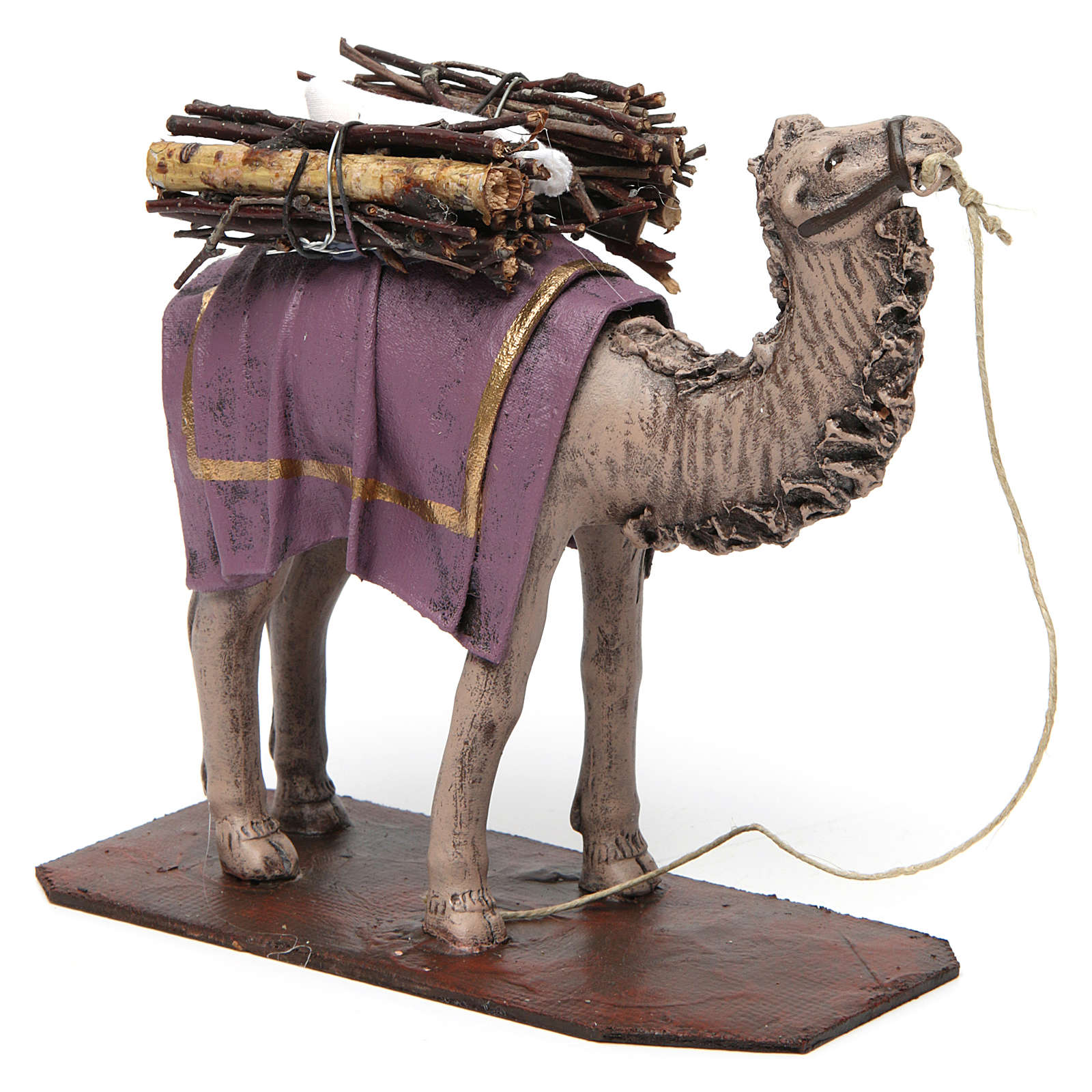 b701b0eaf3b Camello de pie con cargo belén 14 cm de altura media terracota 3