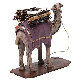 Camello de pie con cargo belén 14 cm de altura media terracota s4