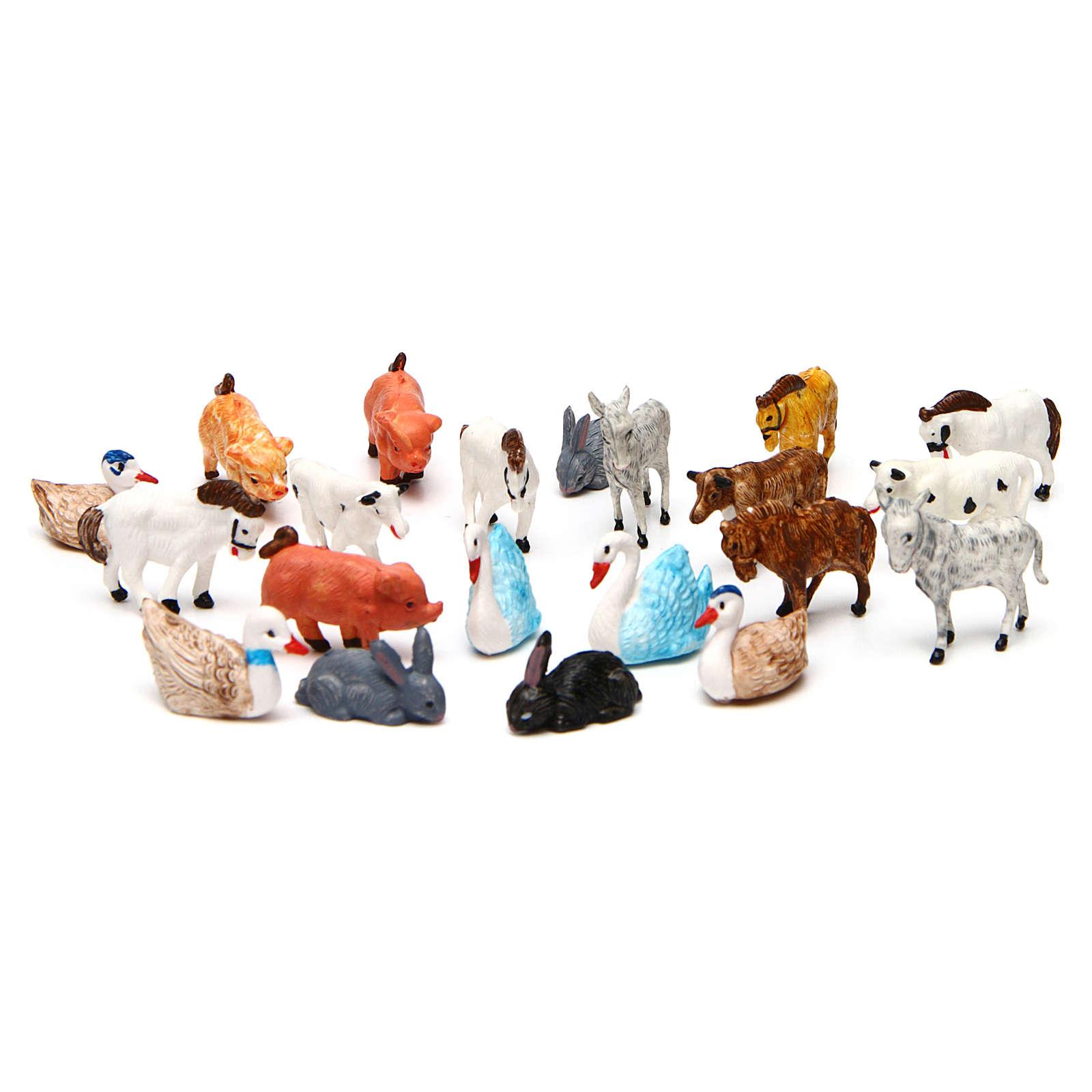 Nativity Scene animals 52 pieces 3 cm 3