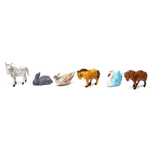 Nativity Scene animals 52 pieces 3 cm 2