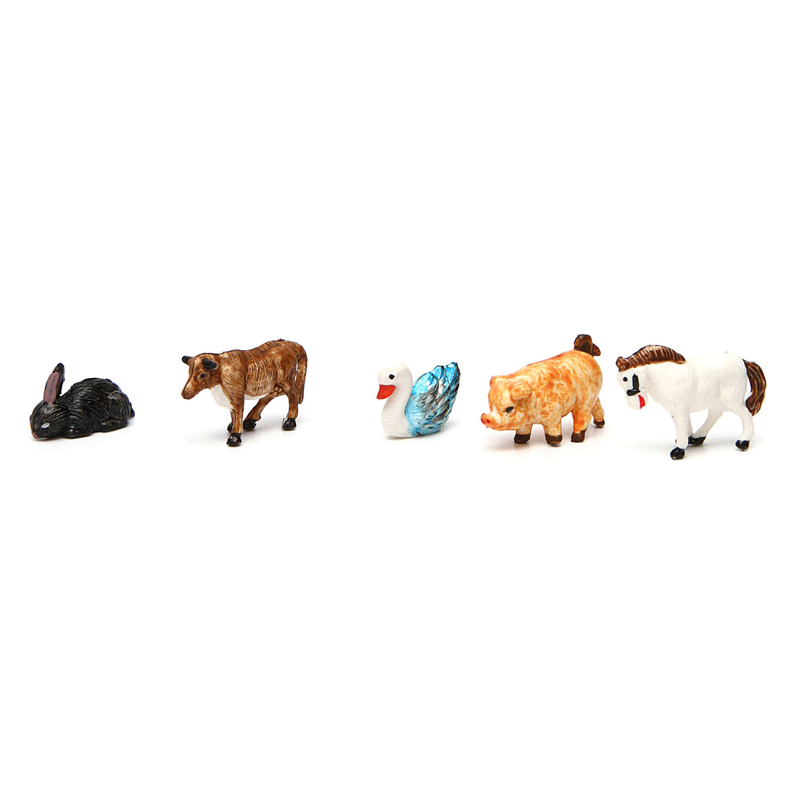 Animales belén 52 piezas belén 3 cm de altura media 3