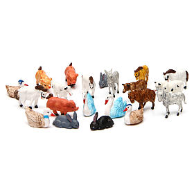Animales belén 52 piezas belén 3 cm de altura media s1